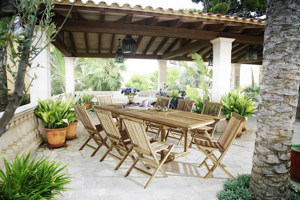SAM® Gartenmöbel Set 9tlg Teak Gartentisch ausziehbar 180-240 cm KUBA/MENORCA