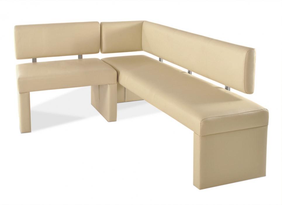 SAM® Eckbank recyceltes Leder nach Maß creme _cm x 170 cm SANDRA ...