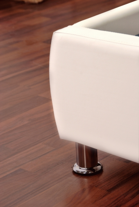 sam polsterbett 160x200 cm wei bettgestell g nstig zarah. Black Bedroom Furniture Sets. Home Design Ideas