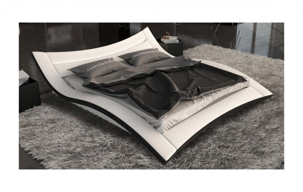 sam bett 160 x 200 cm in wei schwarz seducce led. Black Bedroom Furniture Sets. Home Design Ideas
