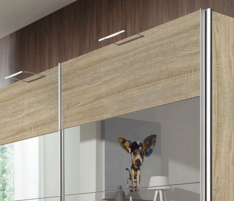 sam kleiderschrank schwebet r 250 cm sonomaeiche costa. Black Bedroom Furniture Sets. Home Design Ideas