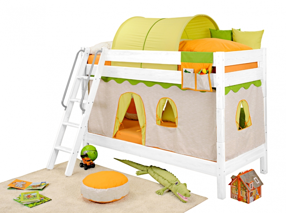 sam kinder etagenbett dschungel ii wei schr g massivholz demn chst. Black Bedroom Furniture Sets. Home Design Ideas