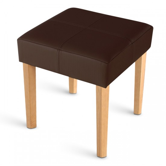 sam design hocker aus recyceltem leder braun buche nina 1 auf lager. Black Bedroom Furniture Sets. Home Design Ideas