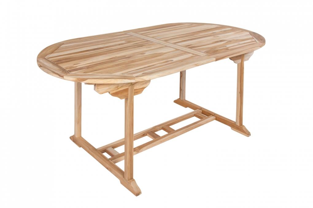 sam teak gartentisch ausziehbar teakholz 180 240 cm aruba demn chst. Black Bedroom Furniture Sets. Home Design Ideas