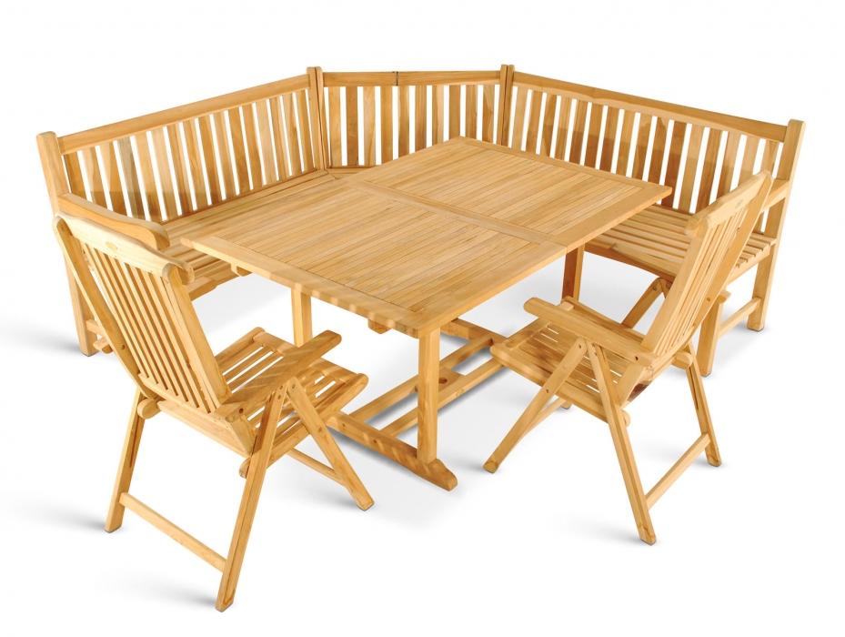 Sam Teak Gartenmöbel Set 4tlg Eckbank Holz Tisch 180 Cm Ka Auf
