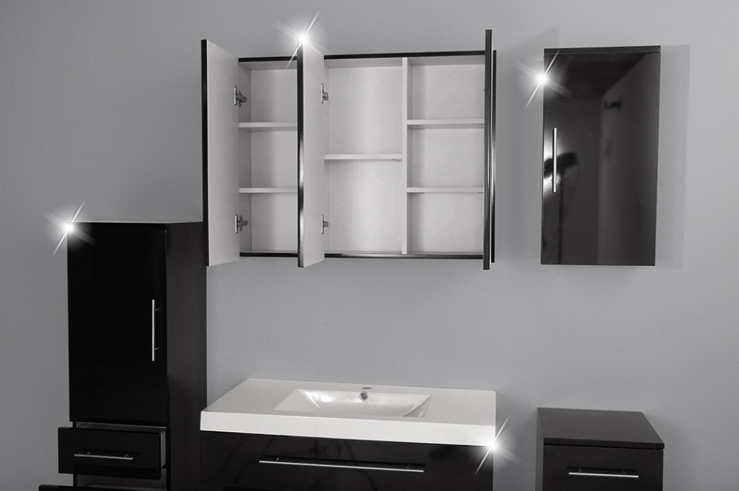 sam badm bel z rich 5tlg schwarz hochglanz 90 cm. Black Bedroom Furniture Sets. Home Design Ideas