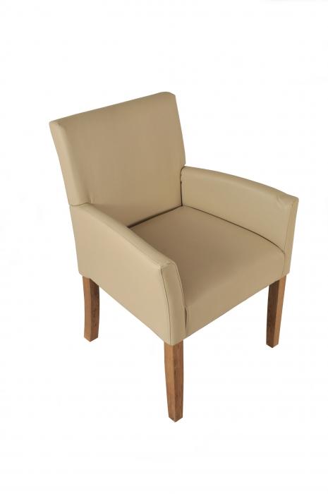 sam esszimmerstuhl armlehnstuhl creme recyceltes leder calbola seite 2. Black Bedroom Furniture Sets. Home Design Ideas