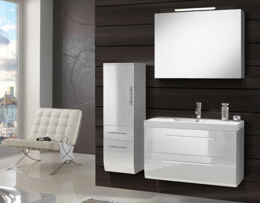 Badmobel 90 Cm ~ Sam® badmöbel set 3tlg waschtisch 90 cm weiß hochglanz zÜrich deluxe