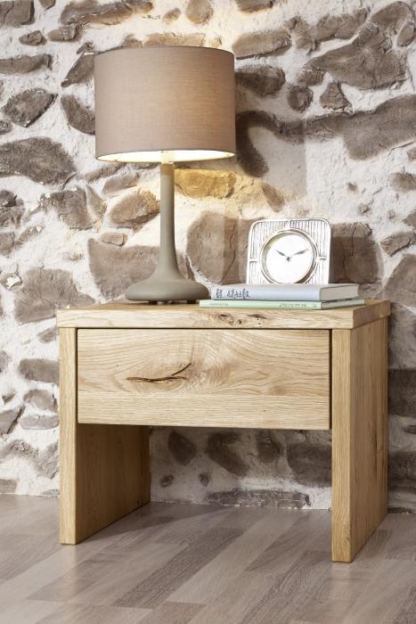 SALE Nachttisch 50 x 35 cm Massivholz Wildeiche natur JAKOB/JOSEF