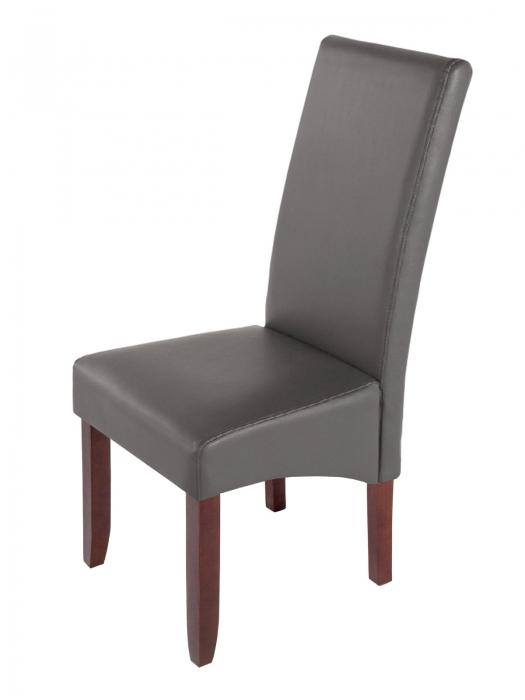 Sam esszimmerstuhl stuhl grau recyceltes leder miriam - Stuhle esszimmer grau ...
