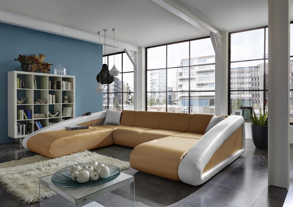 Sam sofa wohnlandschaft ciao farbauswahl 250 x 355 x 205 cm for Sam wohnlandschaft