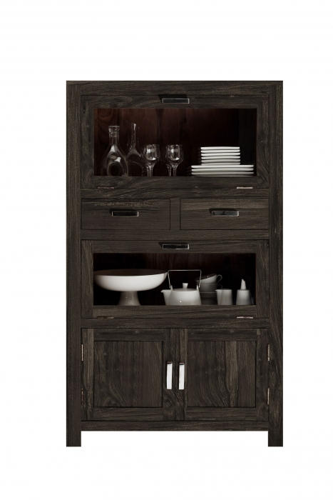 SAM® Highboard 1502-30 Sheesham Palisander massiv 150 cm Wiam Auf Lager !