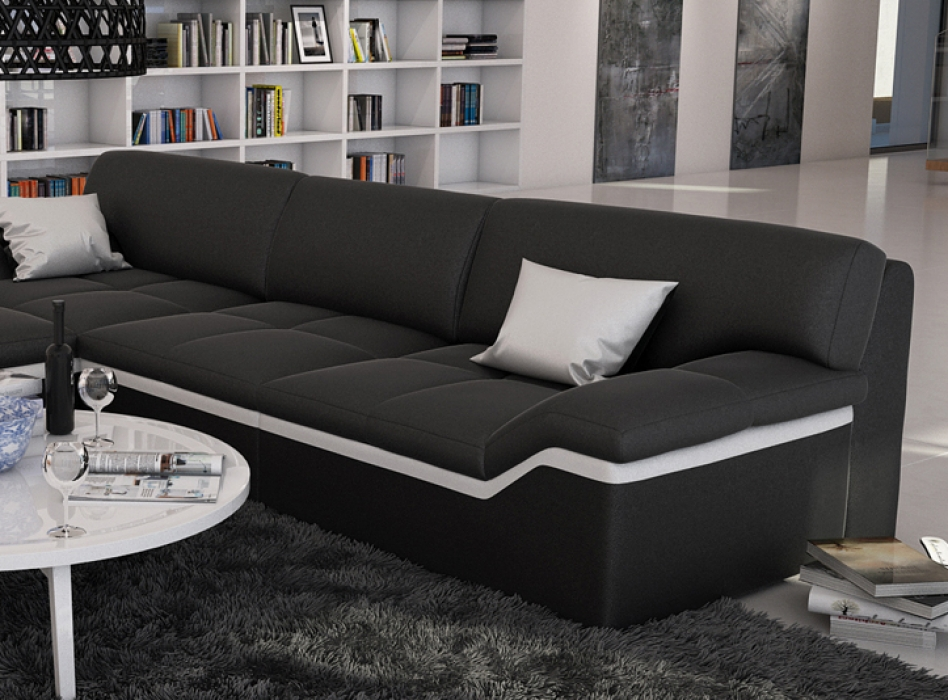 sam ecksofa schwarz stripe wei sofa mistico 220 x 270 cm. Black Bedroom Furniture Sets. Home Design Ideas