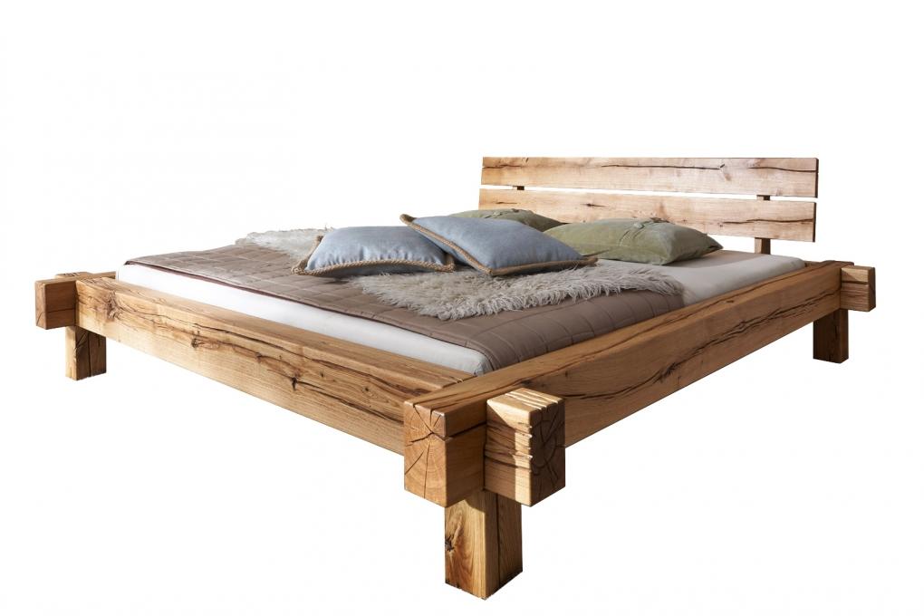 SAM® Massivholzbett Balkenbett Wildeiche 180 x 200 cm JONAS
