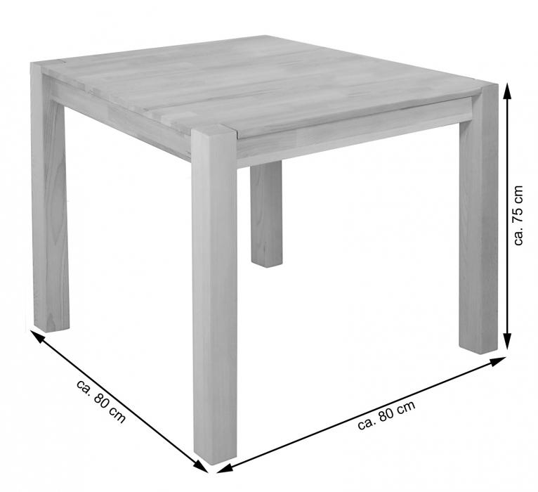 sam esstisch massivholz 80 x 80 cm holztisch kernbuche sandro. Black Bedroom Furniture Sets. Home Design Ideas