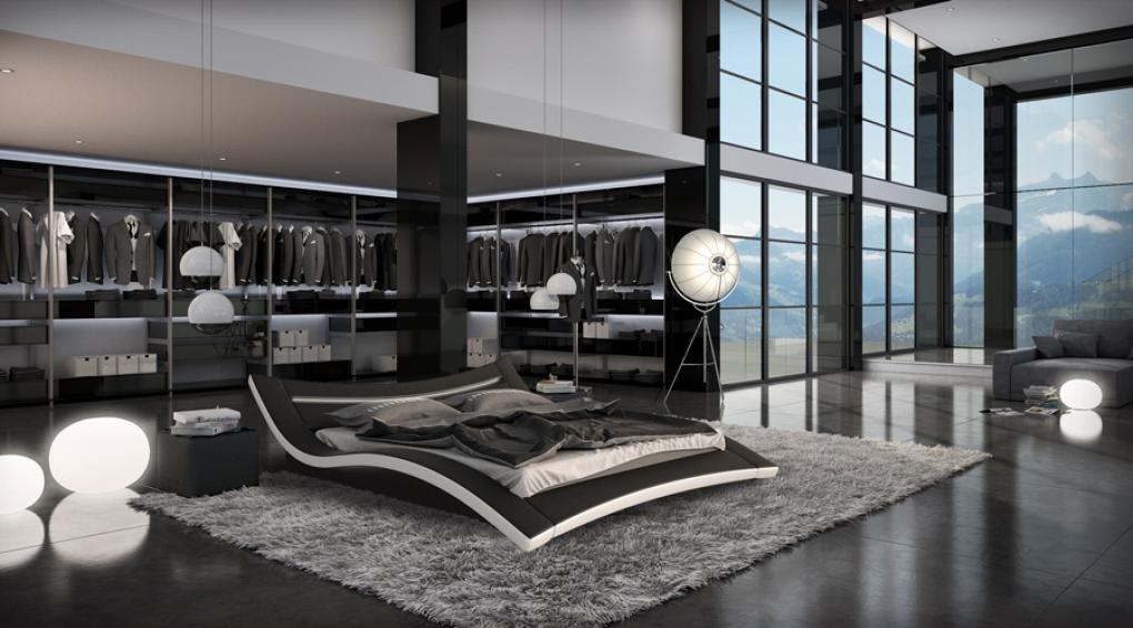 sam® bett 140 x 200 cm in schwarz / weiß seducce, Hause deko