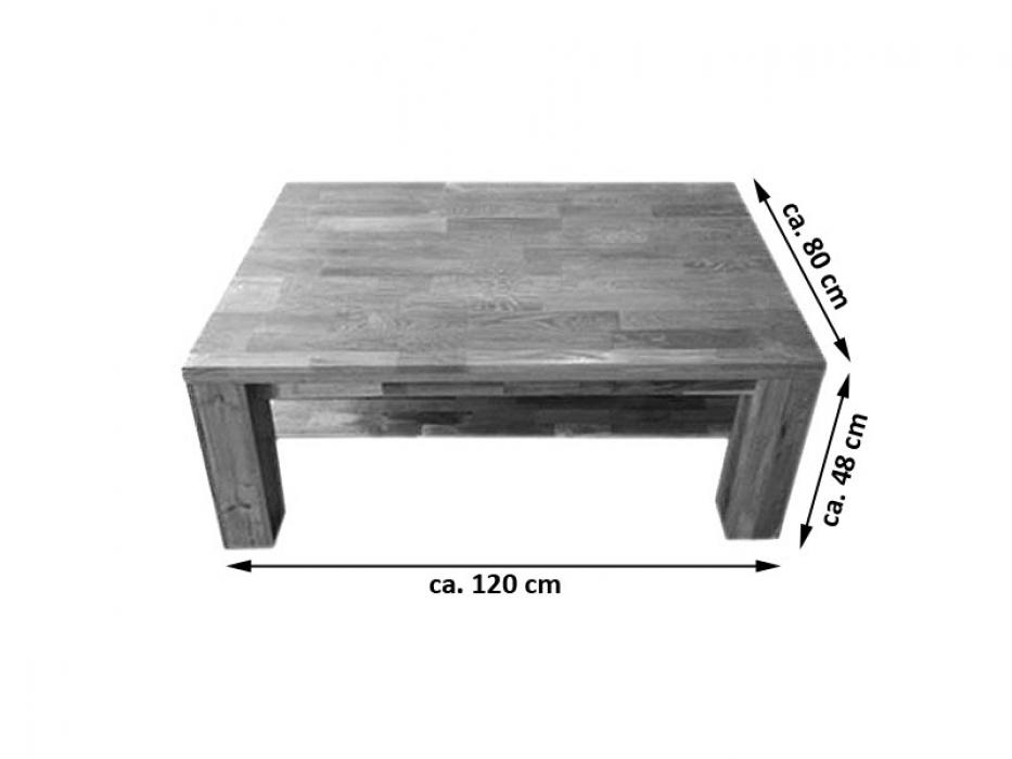sam couchtisch wildeiche massiv 120 x 80 cm ancona 17021. Black Bedroom Furniture Sets. Home Design Ideas