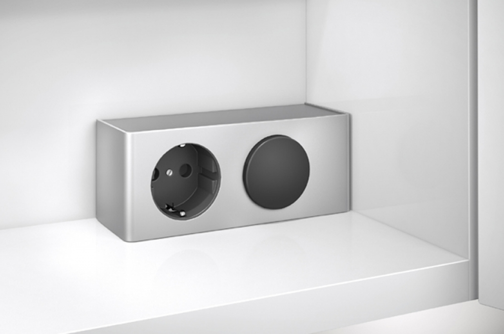 SAM® Badezimmer Energie Box für Spiegelschrank Beleuchtung