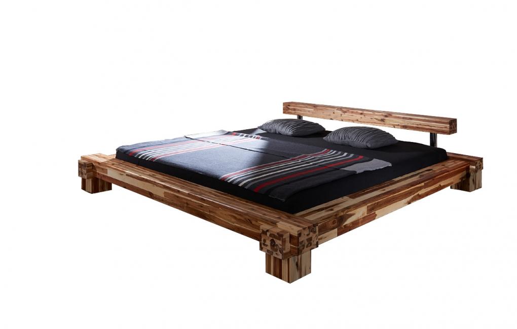 SAM® Massivholzbett Balkenbett Akazie 160 x 200 cm CASANOVA Auf Lager !