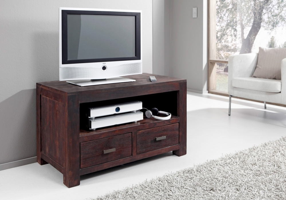 sam tv lowboard tv board 100 cm massiv akazie tabak timber 6646. Black Bedroom Furniture Sets. Home Design Ideas
