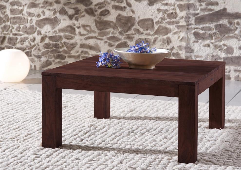 sam couchtisch 80 x 80 cm massivholz akazie tabak timber 6608. Black Bedroom Furniture Sets. Home Design Ideas