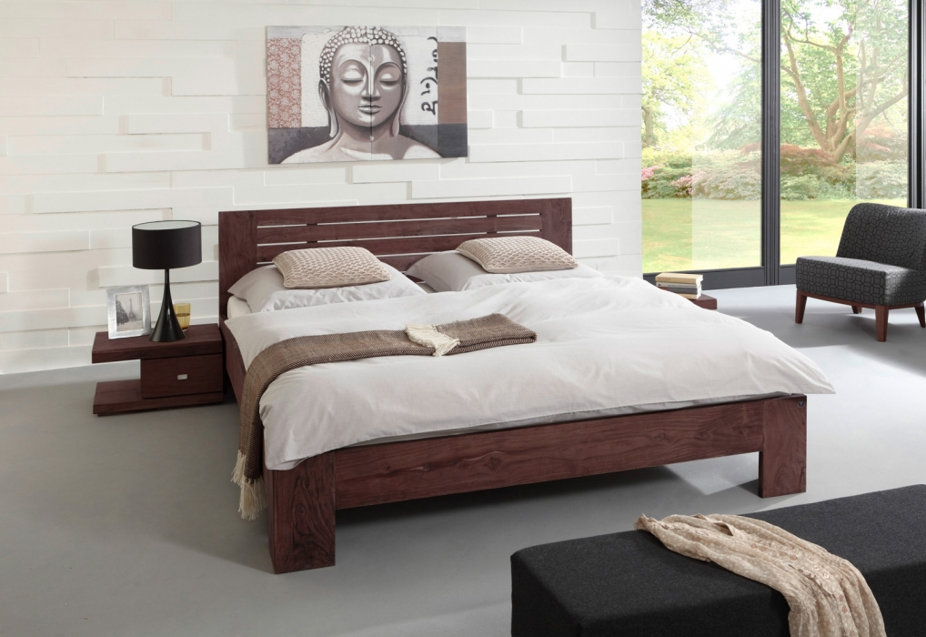 holzbett 180x200 cm g nstig kaufen holzbetten sam. Black Bedroom Furniture Sets. Home Design Ideas