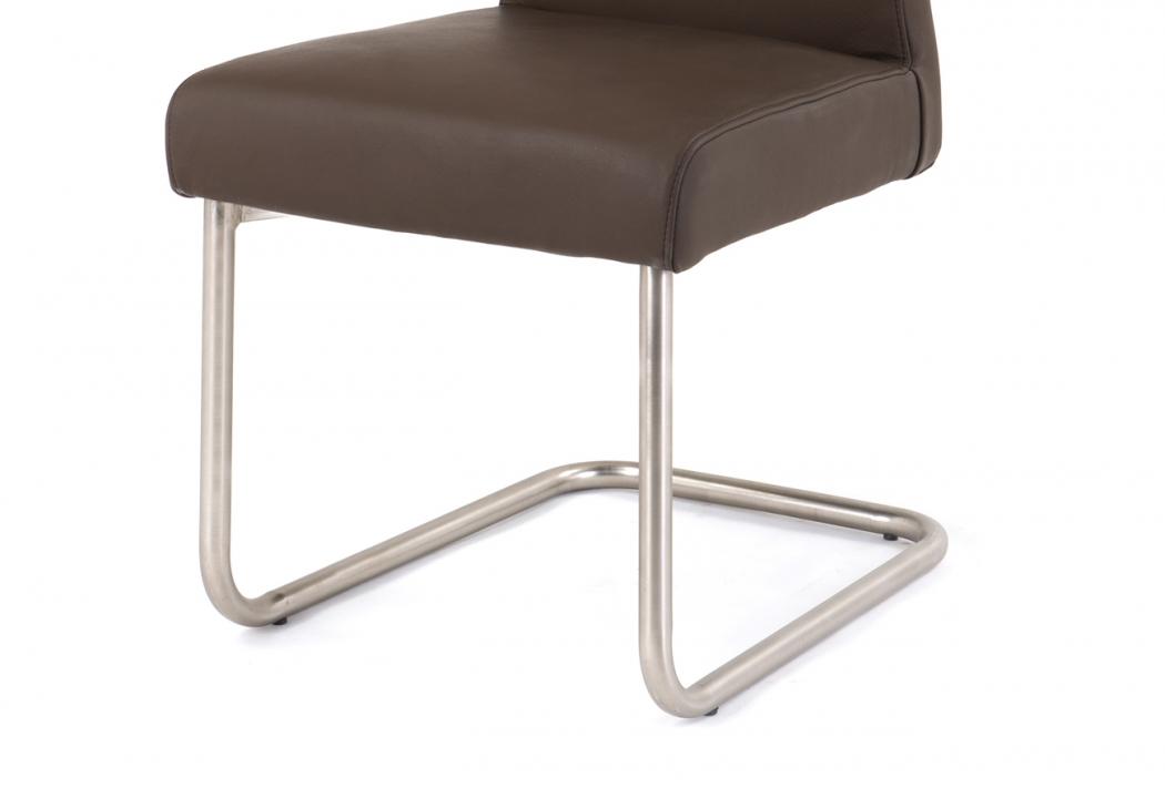 sam design freischwinger stuhl bianca echtleder braun rh2911. Black Bedroom Furniture Sets. Home Design Ideas
