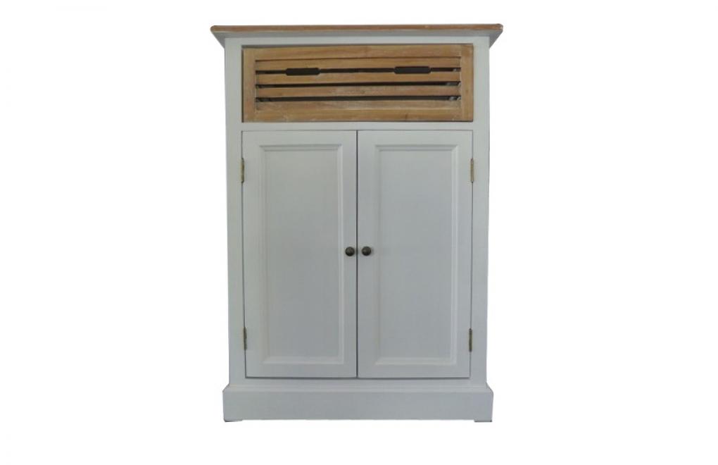 Möbel Im Strandhaus Look. SAM® Schrank Highboard 72 X 100 X 35 Cm Weiß  Paulowniaholz Paris 423 Auf Lager