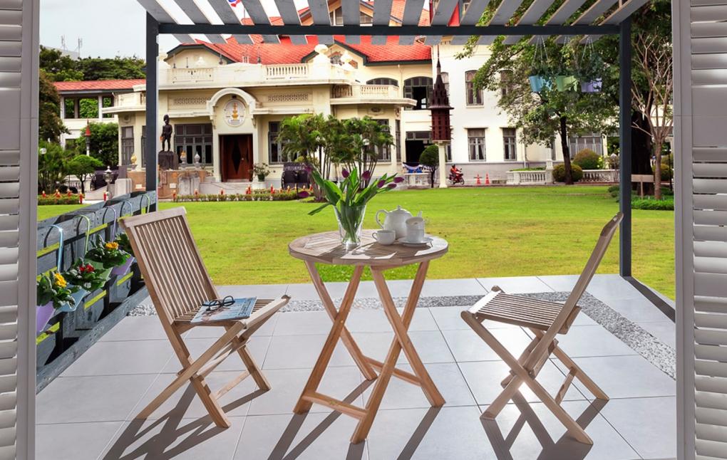 sam balkon set teak 3tlg balkontisch 80 cm 2 klappst hle rondo demn chst. Black Bedroom Furniture Sets. Home Design Ideas