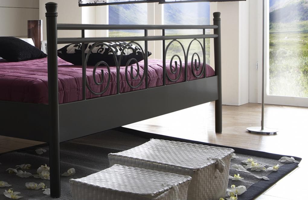 Metallbett schwarz  SAM® Metallbett schwarz 180 x 200 cm Rhodos günstig