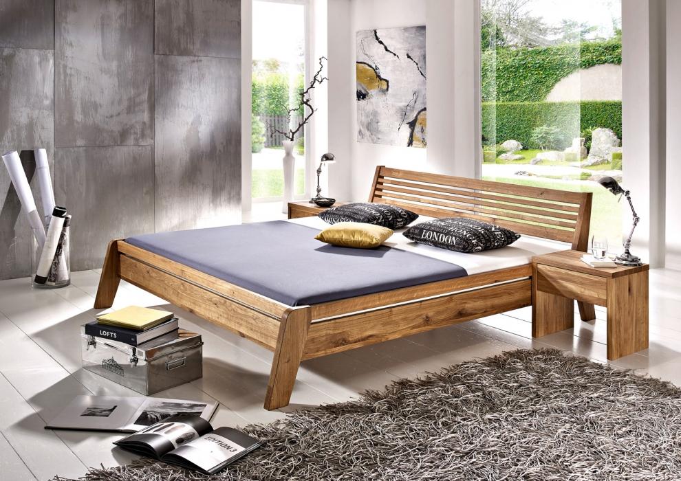 sam massivholzbett doppelbett 180x200 cm wildeiche. Black Bedroom Furniture Sets. Home Design Ideas