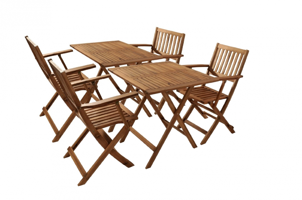 sam balkonm bel set akazie 6tlg 2 balkontische klappbar cameron demn chst. Black Bedroom Furniture Sets. Home Design Ideas