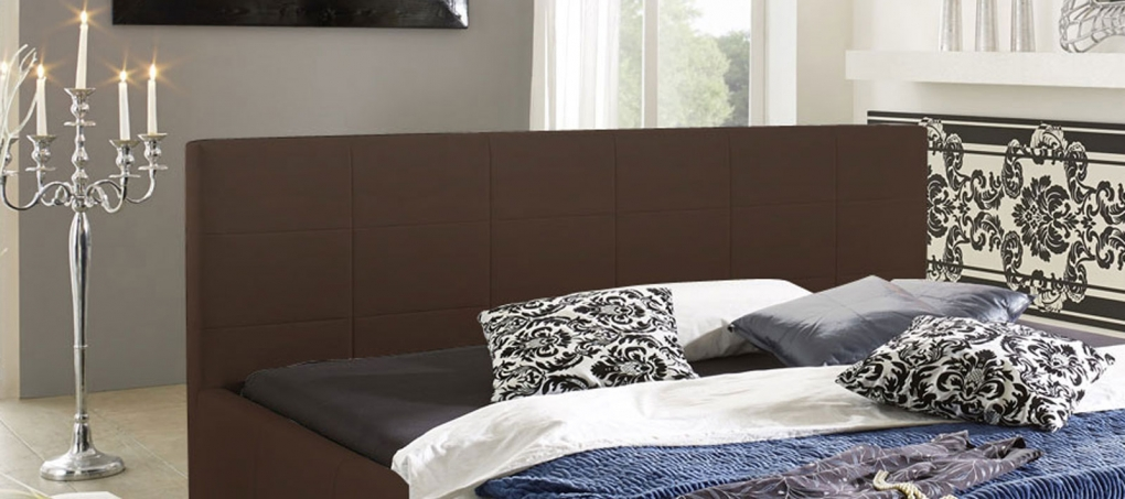 sam bett polsterbett doppelbett braun 160 x 200 cm kira. Black Bedroom Furniture Sets. Home Design Ideas