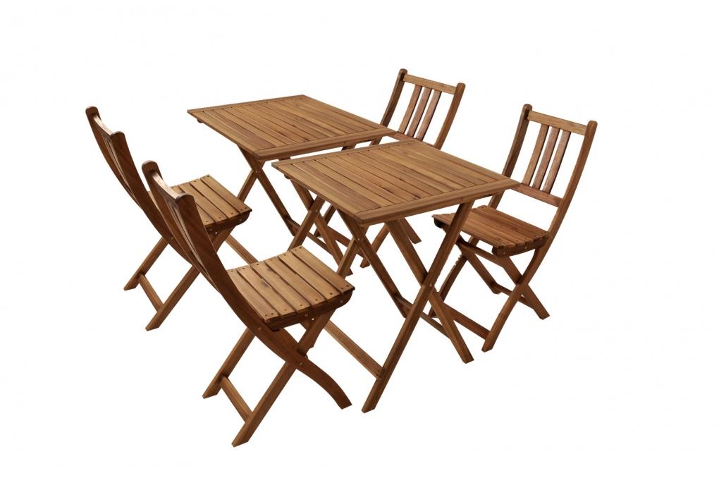 sam balkonm bel set 6tlg akazie 2 balkontische 60 x 60 cm bloom. Black Bedroom Furniture Sets. Home Design Ideas