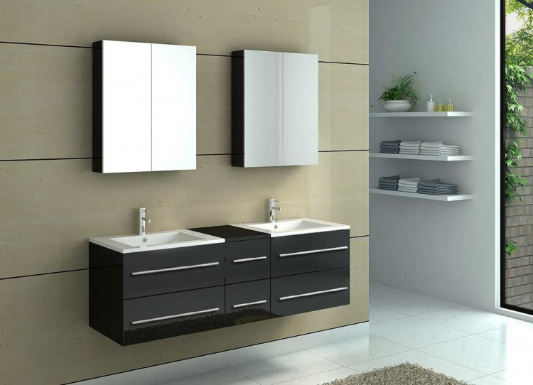 sam badm bel barca neu 5tlg 150 cm spiegelschrank schwarz auf lager. Black Bedroom Furniture Sets. Home Design Ideas