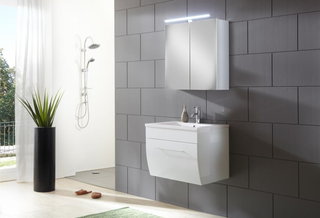 Sam® Badezimmermöbel Zagona 2Tlg Weiß Hochglanz 70 Cm