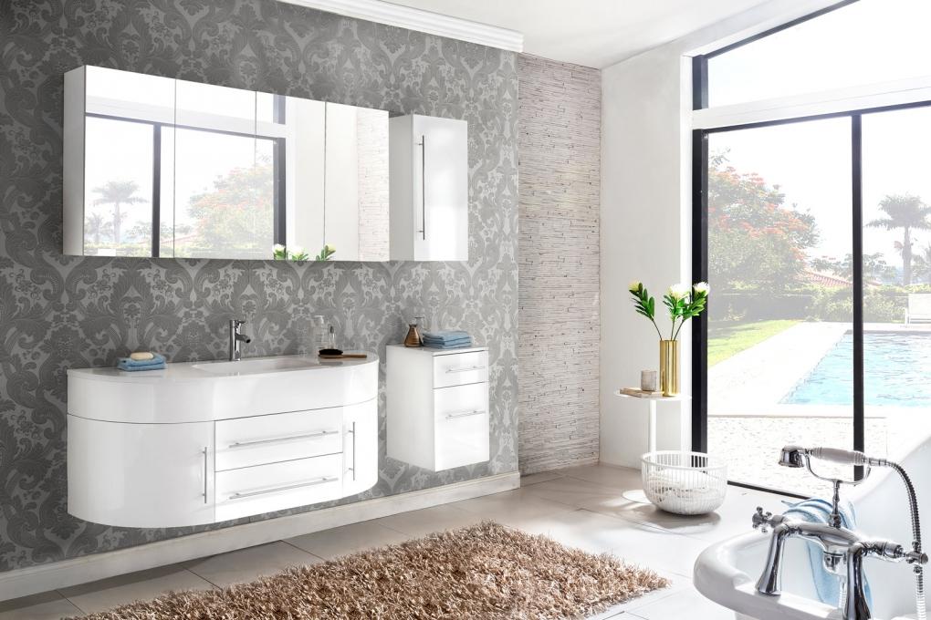sam badm bel set 4tlg waschbecken 140 cm wei hochglanz dublin demn chst. Black Bedroom Furniture Sets. Home Design Ideas