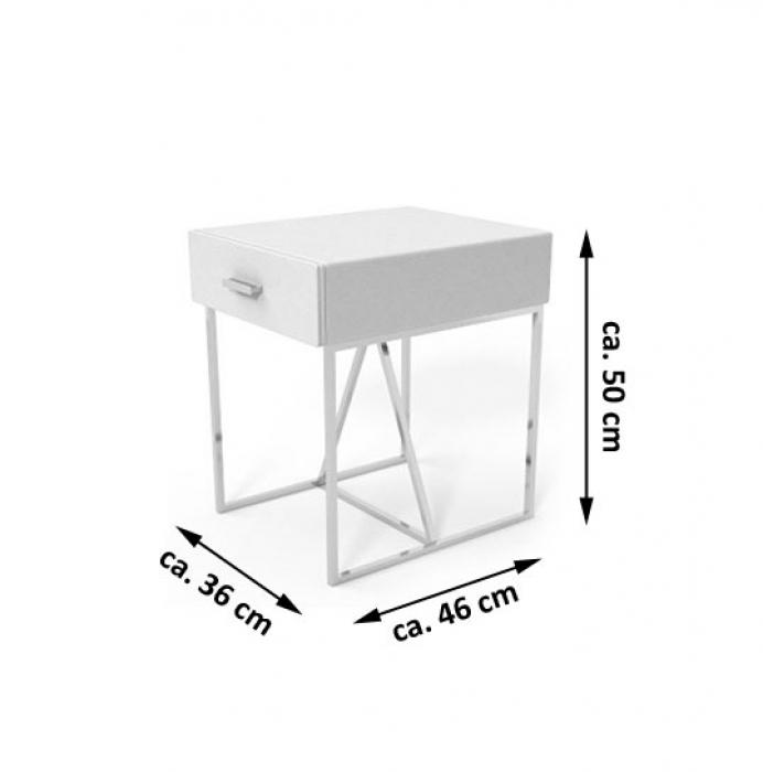 Nachttisch 50 cm hoch good wohnling massivholz design x for Kommode janos ii