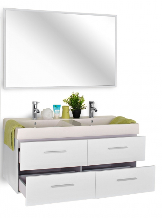 sam badem bel hamburg 2tlg hochglanz wei 120 cm. Black Bedroom Furniture Sets. Home Design Ideas