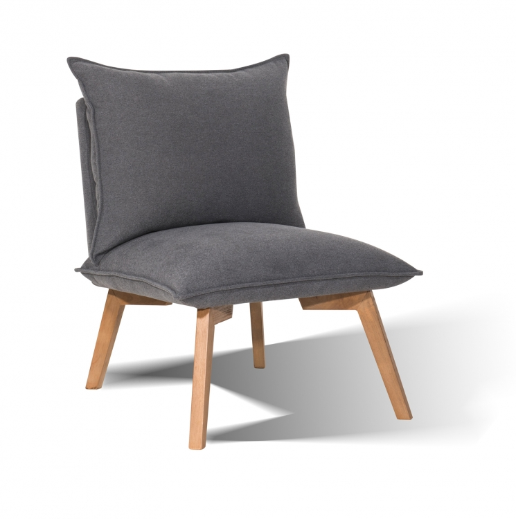 Sam design polstersessel 4737 21 grau hevea sit for Polstersessel grau