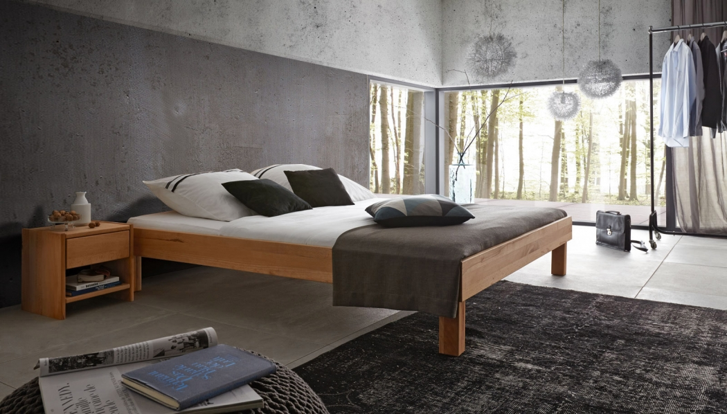 sam holzbett campus kernbuche fsc ohne kopfteil gr enauswahl. Black Bedroom Furniture Sets. Home Design Ideas