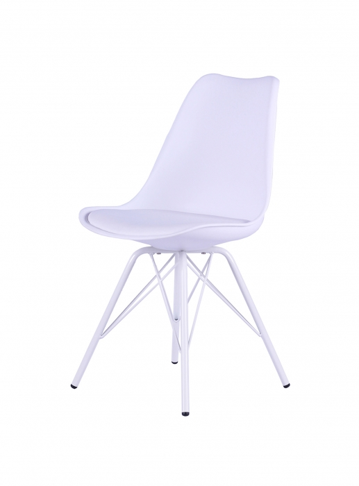 sale esszimmerstuhl schalenstuhl wei gepolstert cappo. Black Bedroom Furniture Sets. Home Design Ideas
