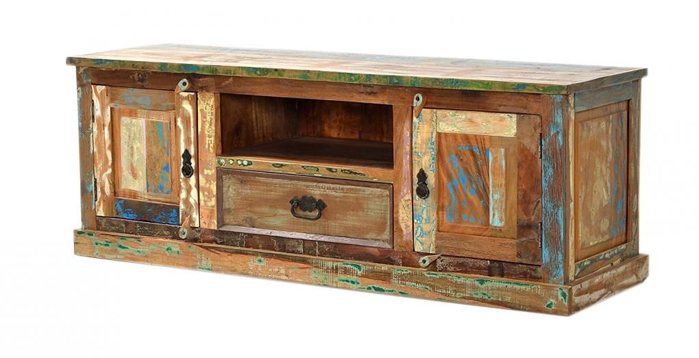sam lowboard tv board 140 cm massives altholz bunt riverboat. Black Bedroom Furniture Sets. Home Design Ideas