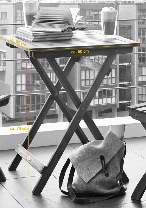 sam balkontisch aus akazie 60 x 60 cm fsc tarnby sta 15. Black Bedroom Furniture Sets. Home Design Ideas