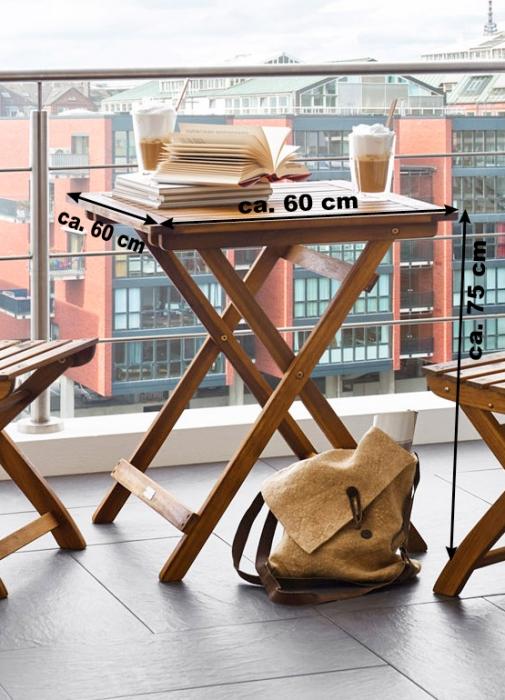 sam balkonm bel akazie 3tlg klapptisch 60x60 cm tarnby farso. Black Bedroom Furniture Sets. Home Design Ideas
