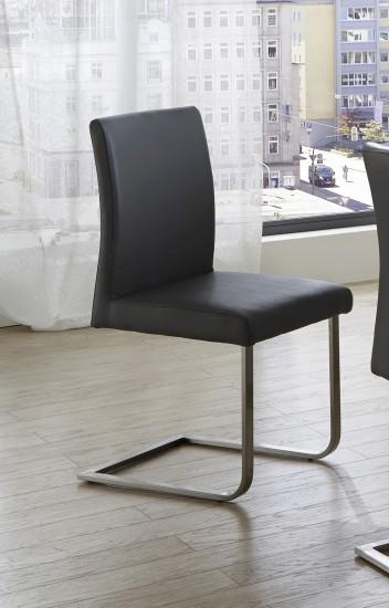 sam freischwinger stuhl hellgrau edelstahl norderoog auf lager. Black Bedroom Furniture Sets. Home Design Ideas