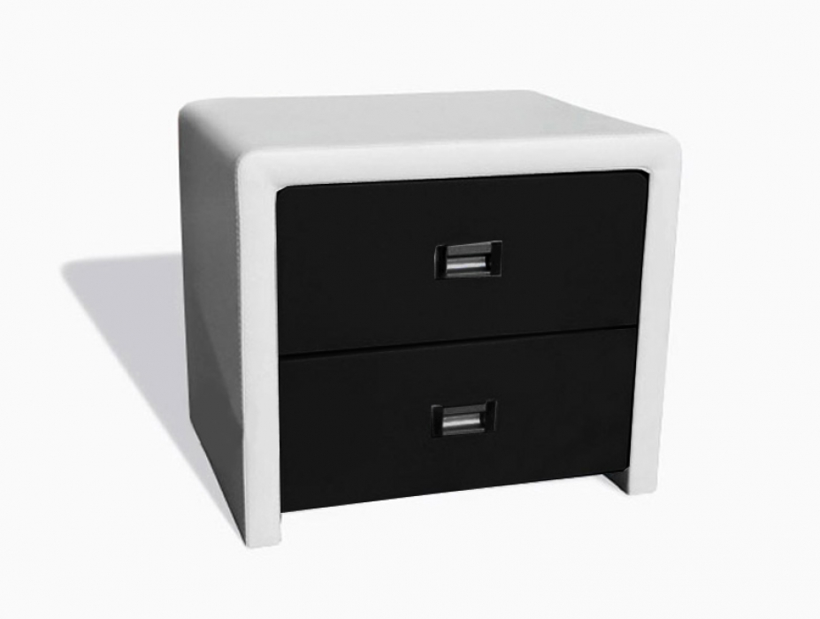 sam nachtkommode konsole nako wei schwarz in 02. Black Bedroom Furniture Sets. Home Design Ideas