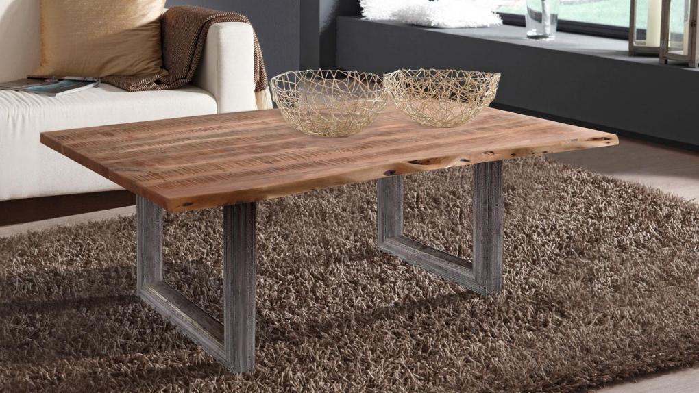 wolf m bel couchtisch baumkante 120 x 80 cm akazie sand. Black Bedroom Furniture Sets. Home Design Ideas