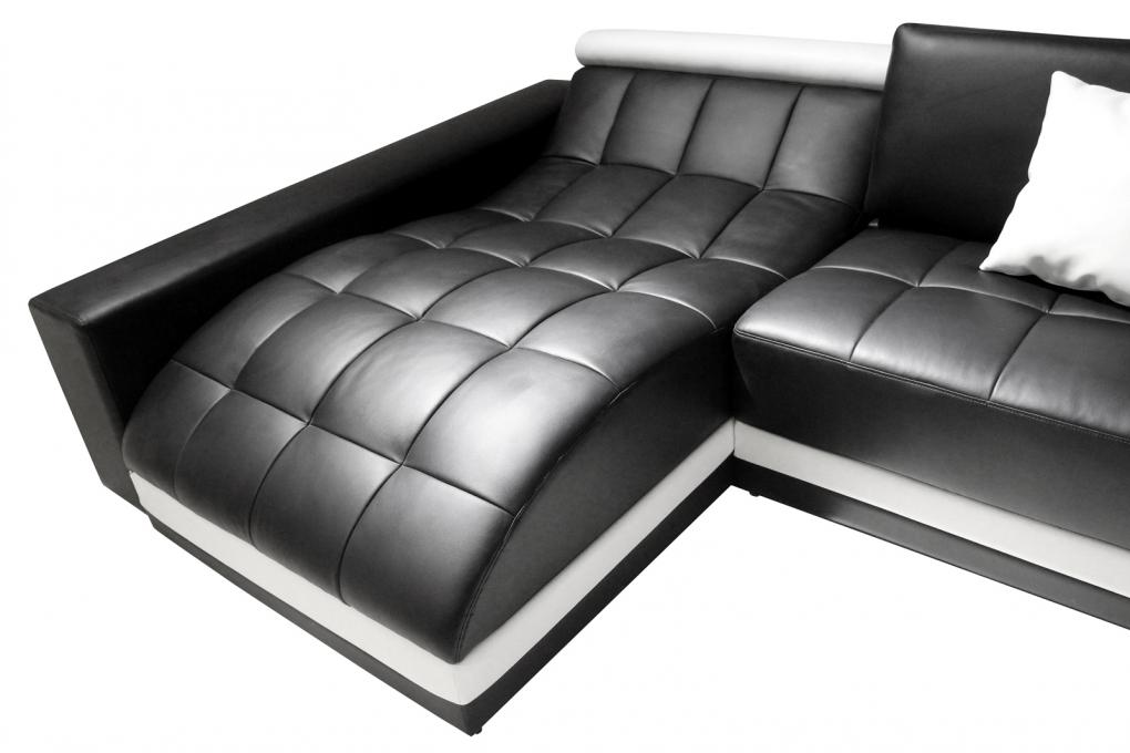sale sofa wohnlandschaft ecksofa schwarz wei glorianna. Black Bedroom Furniture Sets. Home Design Ideas