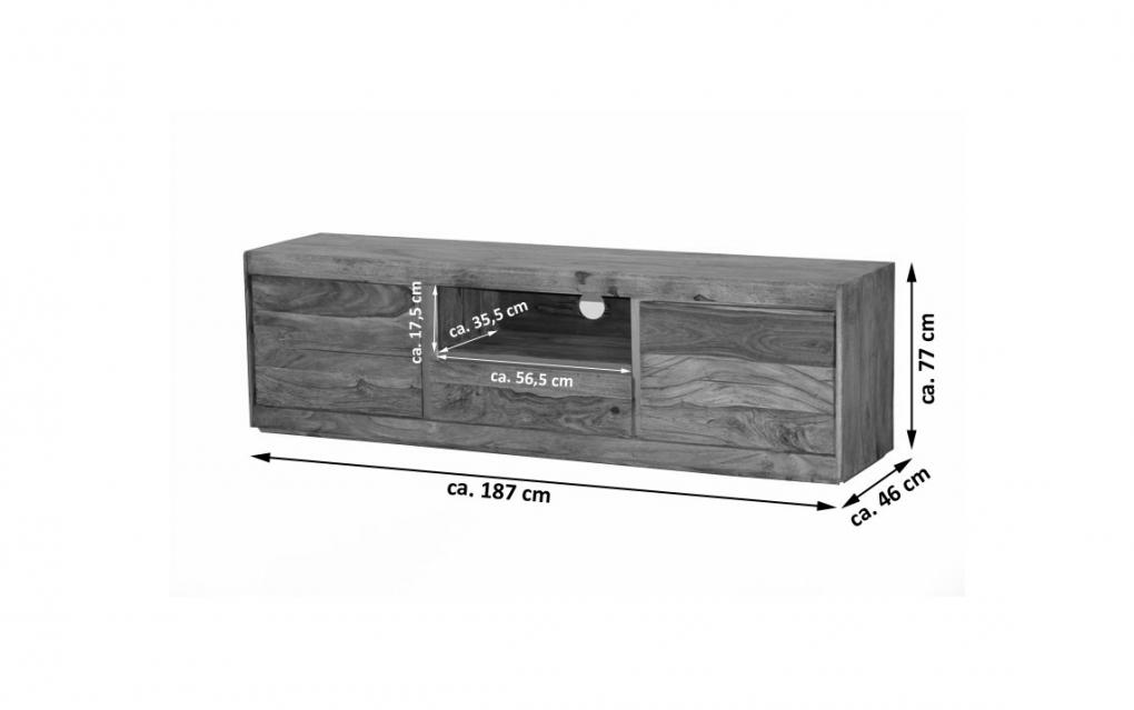sale lowboard tv board sheesham holz ge lt iii senso. Black Bedroom Furniture Sets. Home Design Ideas
